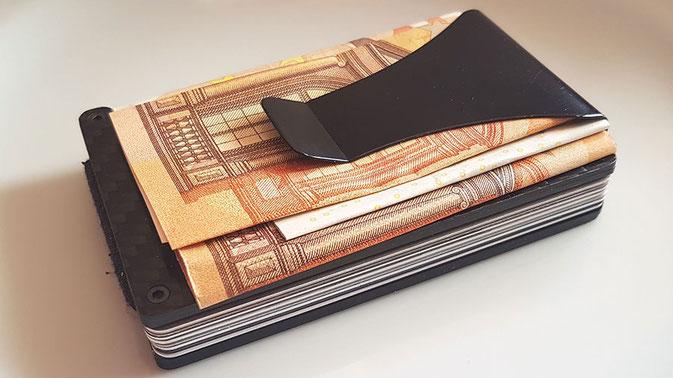 Geldklammer Portemonnaie, Geldklammer Kartenetui, Geldklammer Kreditkartenetui