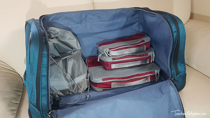 travel dude packtaschen set test, packwürfel set