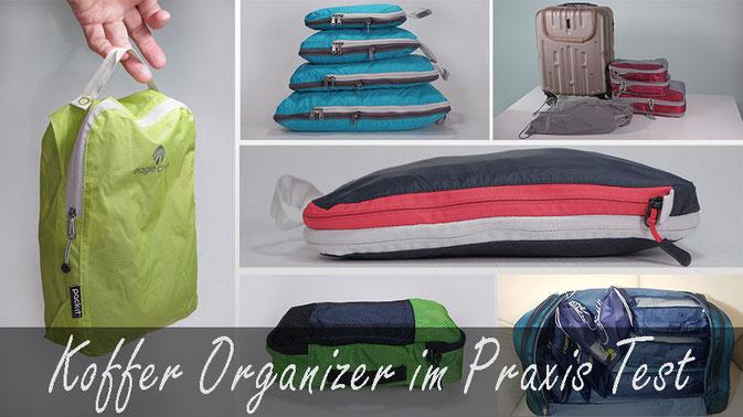 Koffer Organizer test, packwürfel test