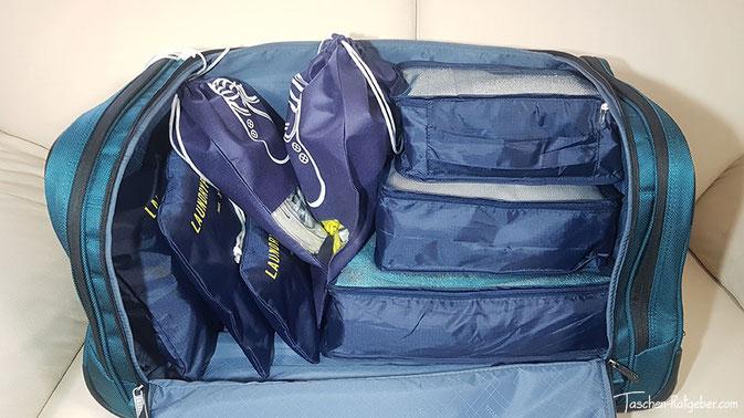 koffertasche, packwürfel, koffer organizer, reisetaschen organizer