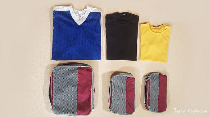 wäschetaschen für koffer, reisewürfel, packbeutel rucksack