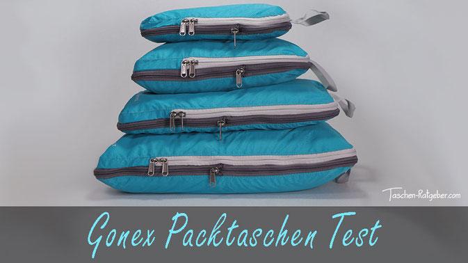 packtaschen test, gonex packtaschen, gonex kleidertaschen