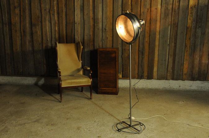 Scheinwerfer Stehlampe Vintage Industriedesign
