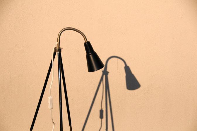 Onkel Edison Stehlampe Tripod Architekt schwarz