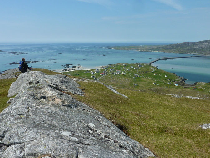 Auf dem Gipfel des Eriskay (äußere Hebriden, Nordschottland)