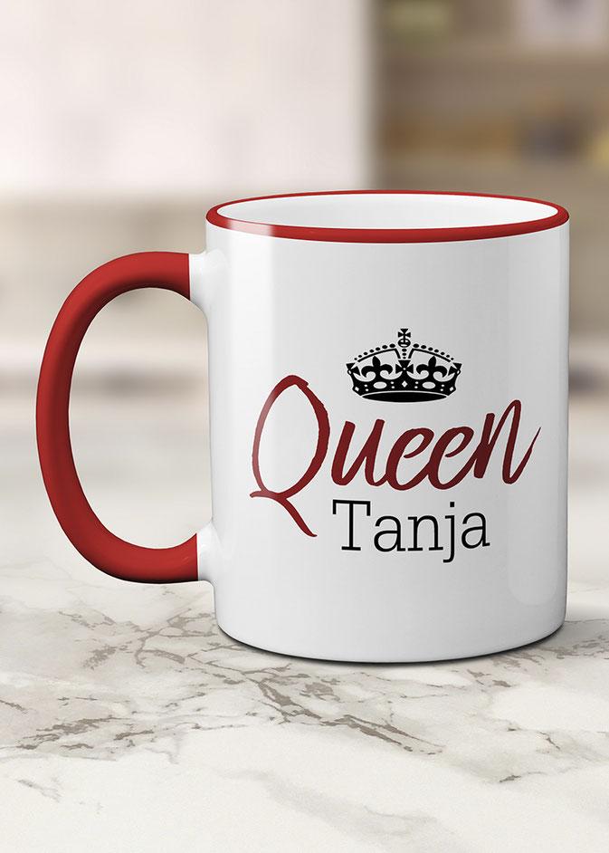 personalisierte Tasse Queen