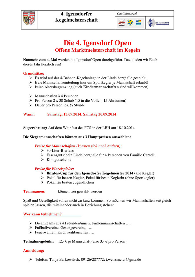 Flyer 4. Igensdorf Open