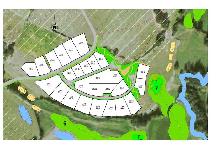 Plan les terrasses du golf Bressuire