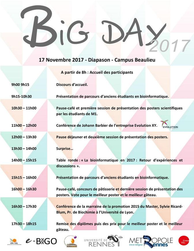 Programme de la journée du BIG Day 2017
