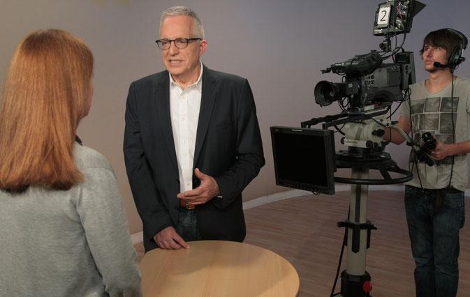 TV Studio Interviewtraining Peter Rueben