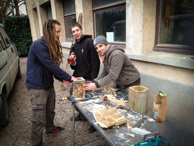 L'Atelier Vert, construction de nichoirs à mésange