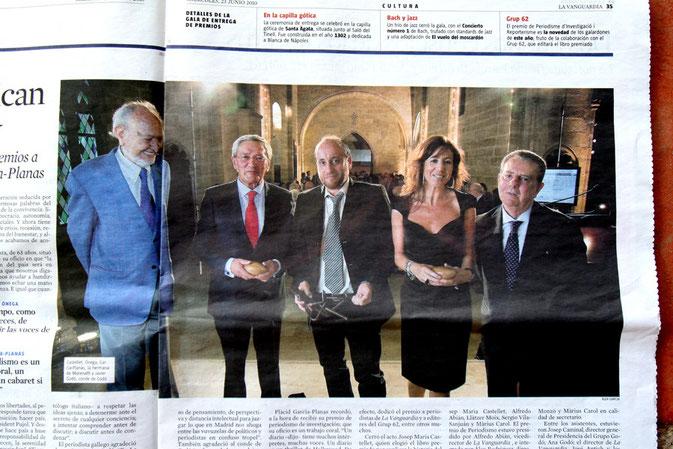 "Premio Conde de Godo ""Periodismo investigación"" 2010"