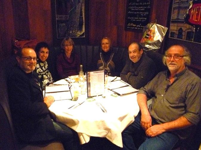 Cena en la Brasserie: Canano-Calonge-Raventós
