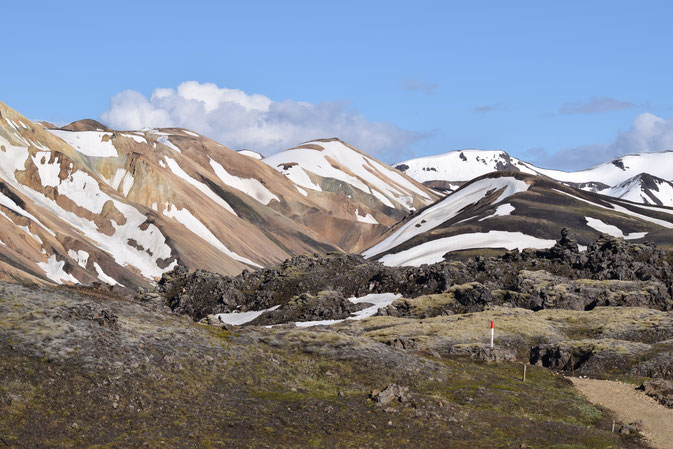 The lava field - short hike from Landmannalaugar Laugahringur