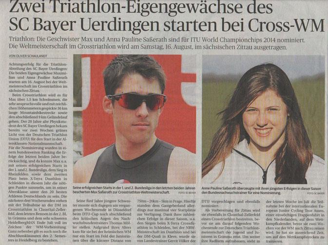 Rheinische Post am 17.07.2014