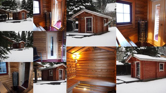 Dezember 2016 - unsere Sauna ist fertig.