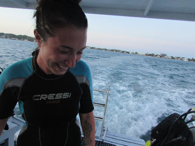 Happiness is Diving.
