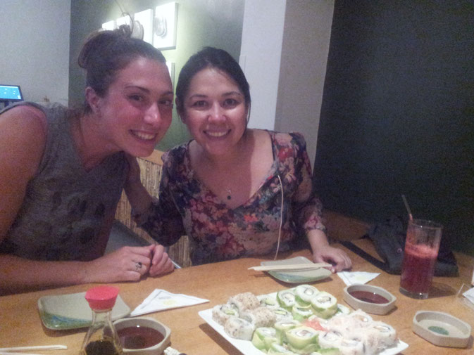 Sushi in Santiago with my awesome host Pia