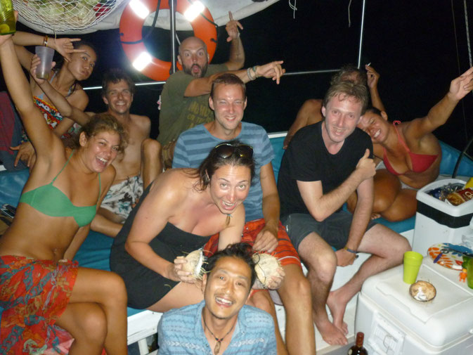 Epic boat crew - some where in the Pacific between Colombia and Panama