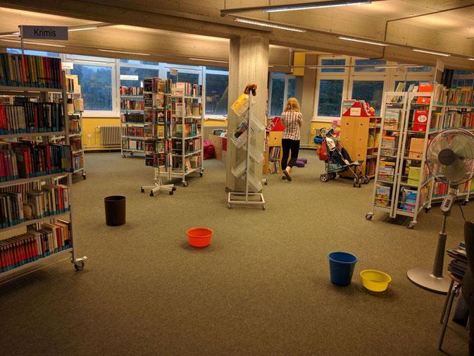 Bei Regen werden unsere Bücher nass! Staatliche Bibliothek heute!