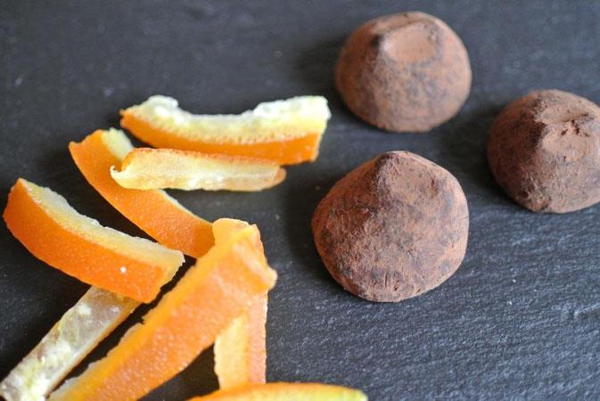 Orangenschalen kandiert