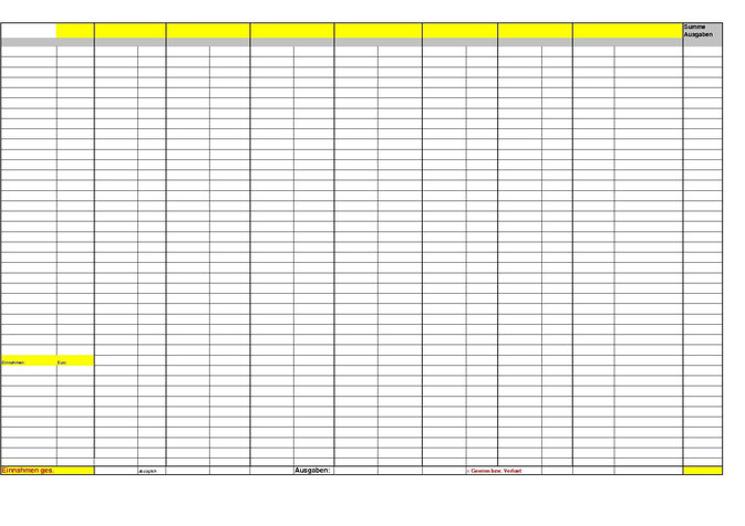 Haushaltsbuch Vorlage - mit kostenlosem Download