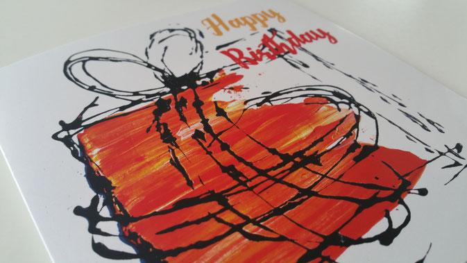 Geburtstagskarte mit Spende für die Stiftung Theodora