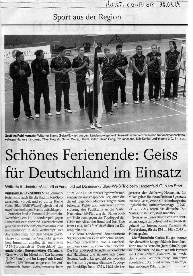 Holsteinischer Courier 28.08.2014