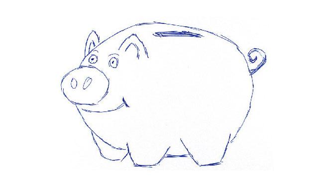 Das klassische Symbol für das Sparen - ein Sparschwein