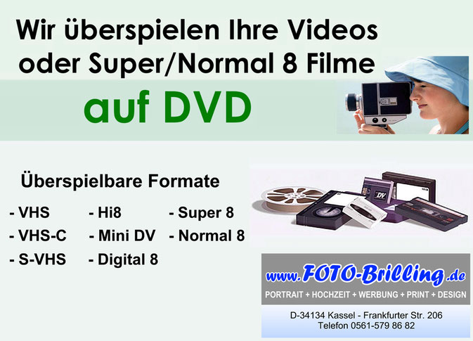 Digitalisierung, Videobearbeitung, Scanservice in Kassel