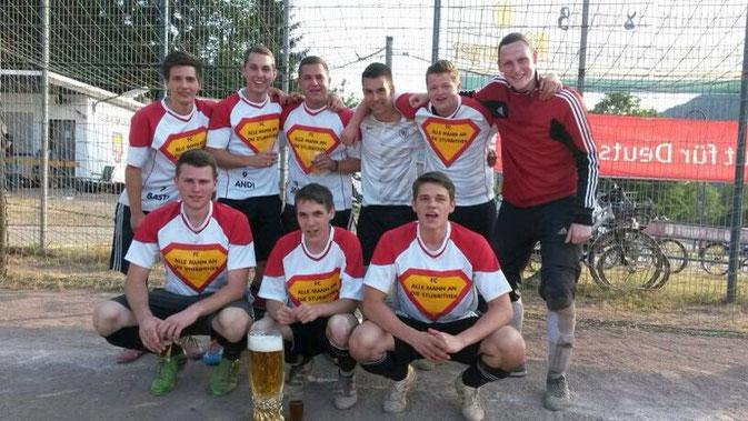 Siegerteam: FC alle Mann an die Stubbitheke