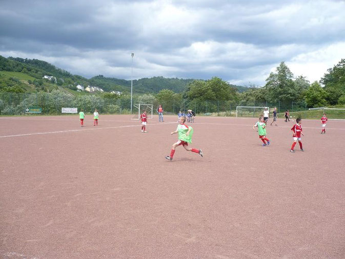 Spiel der F-Junioren von Oppenhausen und Untermosel