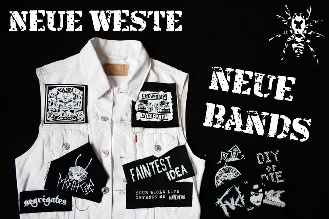 Neue Weste - neue Punk-Musik - Zebraspider DIY Anti-Fashion Blog