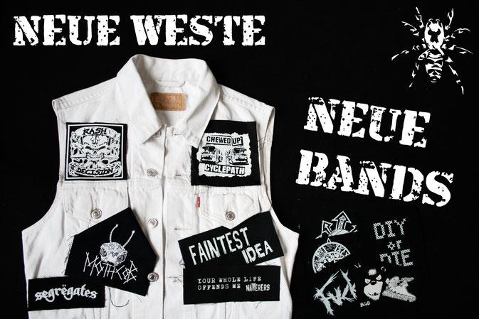 Neue Weste - neue Punk-Musik - Zebraspider DIY Anti-Fashion Blog