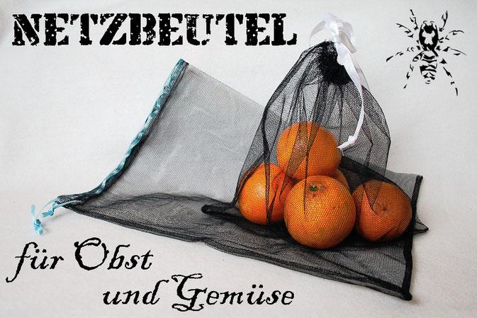 Netzbeutel für Obst und Gemüse nähen - Zebraspider DIY Blog