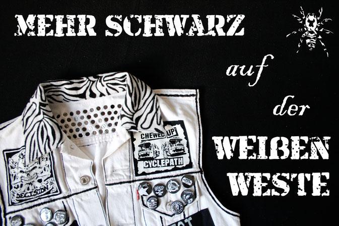 Mehr schwarz auf der weißen Weste - Zebraspider DIY Anti-Fashion Blog