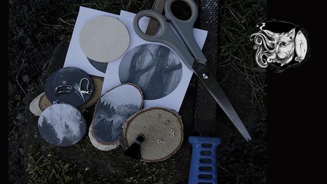 Catmansion - Extraordinary spooky jewellery - work in progress - Zebraspider DIY Blog