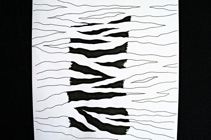 Zebramuster malen Schritt für Schritt - Muster erweitern - Zebraspider DIY Blog