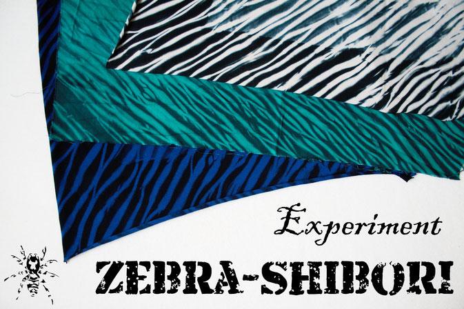 Zebra-Shibori Experiment - Pole-wrapping Batik Zebramuster färben - Zebraspider DIY Anti-Fashion Blog