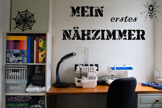 Rundgang durch mein Nähzimmer in England - Zebraspider DIY Blog