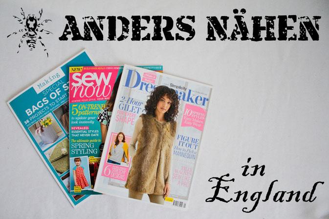 Anders Nähen in England - Vorstellung englische Nähzeitschriften - Zebraspider DIY Anti-Fashion Blog