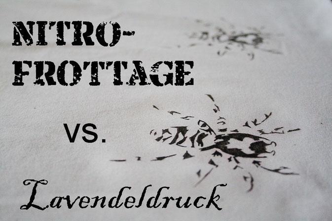 Testreihe - Nitrofrottage und Lavendeldruck im Vegleich - Zebraspider DIY Blog