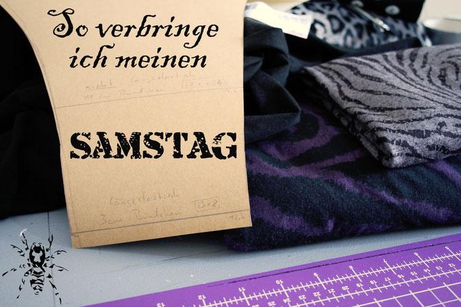 So verbringe ich den Samstag am liebsten - Nähen und Punkrock - Zebraspider DIY Anti-Fashion Blog