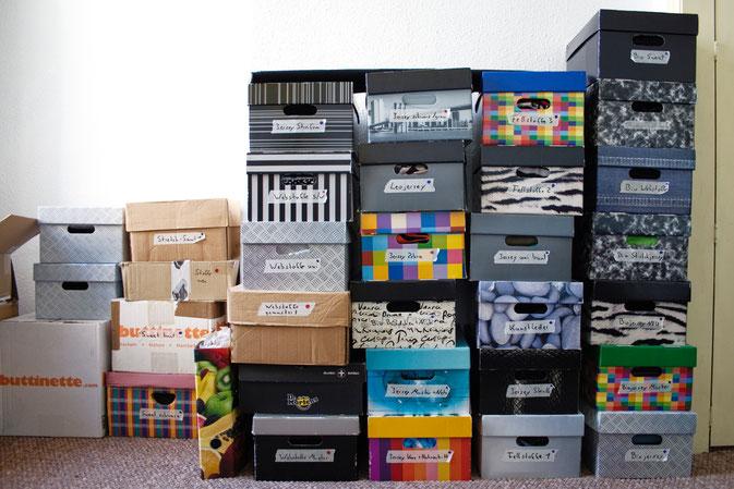 DIY zu Hause - so lebe ich - Stoffkisten - Zebraspider DIY Blog