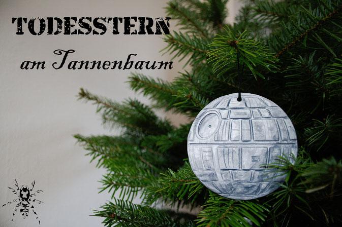 Todesstern am Tannenbaum - Star Wars Weihnachtsdeko - Zebraspider DIY Blog