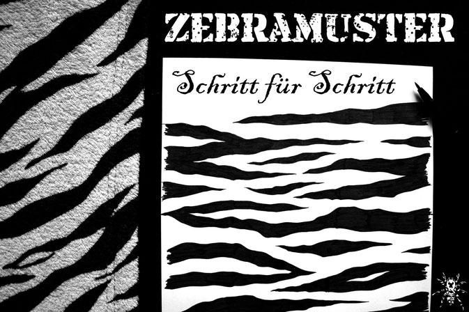 Zebramuster malen Schritt für Schritt - Zebraspider DIY Blog
