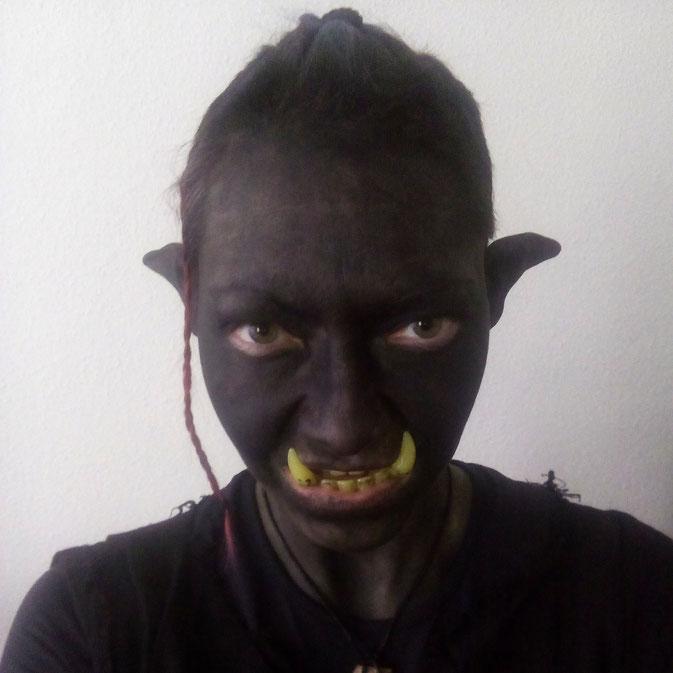 Ork Selfie nach dem LARP/Cosplay Fotoshooting - was bei mir auf Intagram so los ist - Zebraspider Blog