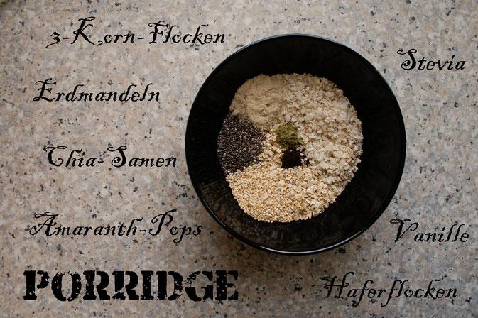 Mein englisches Frühstück - Porridge Rezept - Zutaten - Zebraspider DIY Blog