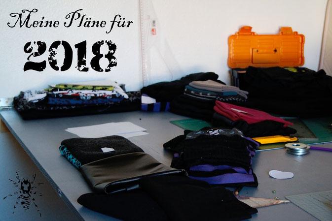 Meine Pläne für 2018 - Zuschneidetisch Chaos - Zebraspider DIY Anti-Fashion Blog