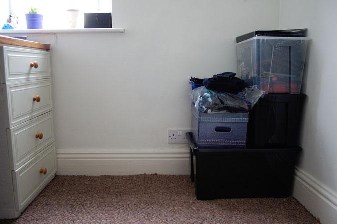 Rundgang durch mein Nähzimmer in England - kleines Zimmer- Zebraspider DIY Blog